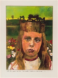 alice in wonderland (set of 8) by peter blake