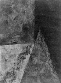 ohne titel (schwarz mit blauem rechteck) by edgar hofschen