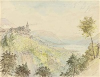 convent of st. madona del sasso (+ 6 others; 7 works) by william henry bartlett