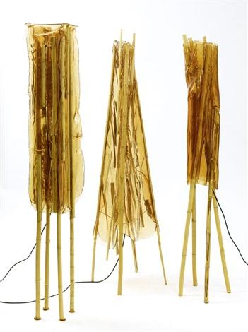 3 lampadaires (from nativo campana)(set of 3)(prototype) by fernando and humberto campana