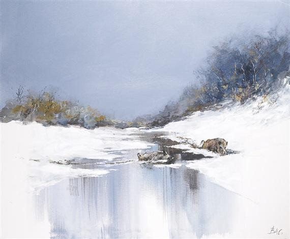 sangliers dans la rivière by patrice bac