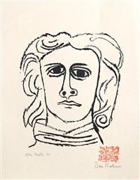 skowhegan, portrait of a man by ben shahn