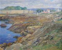 french coastal scene by abel george warshawsky