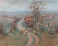 fox hunt in dorset by richard newton ii