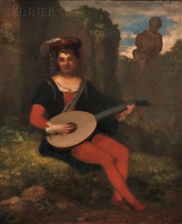 a young troubadour by washington allston