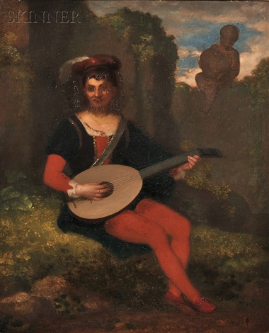 a young troubadour by washington allston