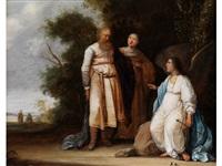 manoah und seinem weib wird von einem engel die geburt eines sohnes verkündet by pieter symonsz potter