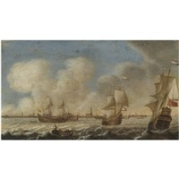 dutch shipping off the coast of amsterdam by pieter coopse