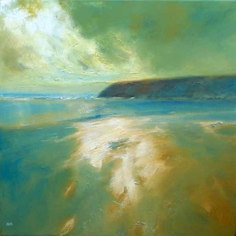 sand sea and headland skye by jenny aitken
