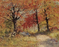 autumn woods by henry hammond ahl