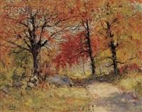 autumn woods by henry hammond ahl