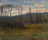 autumn landscape by nicolas glouchenko