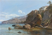 fishermen at sorrento by thomas fearnley