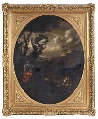 scène biblique (gidéon et l'ange?) by salvator rosa