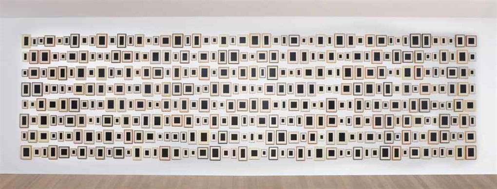 384 plaster surrogates (in 384 parts) by allan mccollum