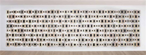 384 plaster surrogates in 384 parts by allan mccollum