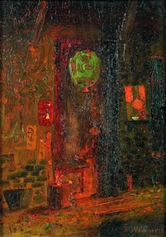 chinatown at night by elizabeth wallace cameron
