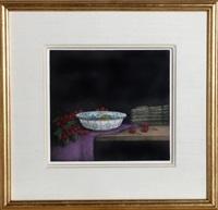 cherries and asparagus by tomoe yokoi
