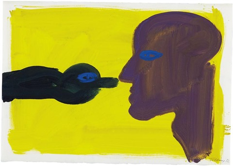 boy and bird by rainer fetting