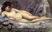 the artist's model by cesare bacchi