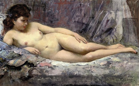 the artists model by cesare bacchi