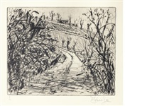 landscape (overgrown road) by william kentridge