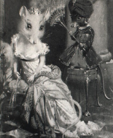lady josephine caerphilly with her page cheddar by terence cuneo