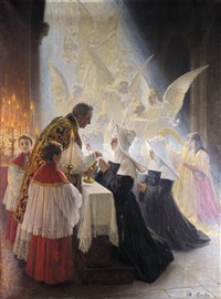 holy communion by angelo comte de courten