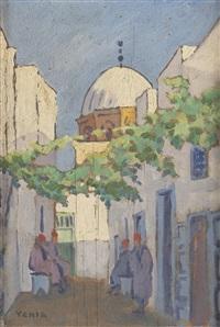 le repos dans une ruelle à tunis by yahia turki