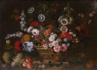 flowers in basket by pieter casteels iii