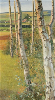 birches by paul walter ehrhardt