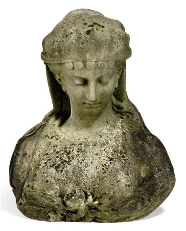 bust of an orientalist lady by pietro bazzanti