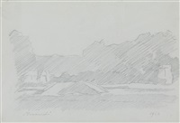 paesaggio by giorgio morandi