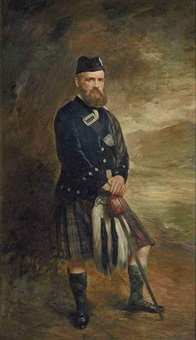 portrait of a gentleman in highland dress by scottish school (19)