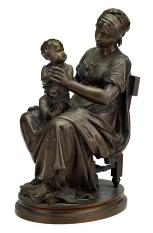 mother and child by jean louis gregoire