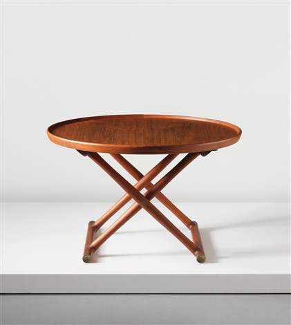 Egyptian folding table by mogens lassen on artnet for 52 folding table