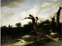 landschaft mit gewässer und fischern by gerrit van hees
