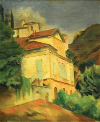 landscape by abram adolphe milich