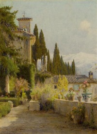 in the garden, granada by george marks