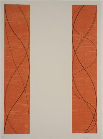 two columns b by robert mangold