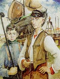 zuiderzee dockworkers, enkhuizen by dirk kruizinga