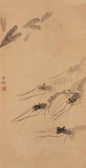 群虾图 (shrimps) by liu zigu