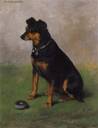 monkeyano, dog portrait by frances c. fairman