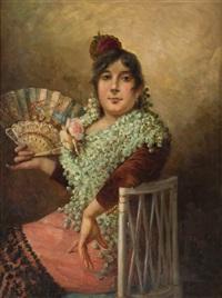 retrato de mujer castiza by jose maria alarcon