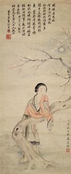 仕女 by jiang xun