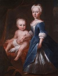 portraitdoppelbildnis eines geschwisterpaares by johannes simmler