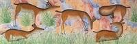 cinq antilopes dans la brousse by mulongoy pili pili