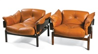 armchairs (pair) by percival lafer