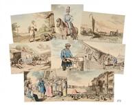 vues et des scènes de la vie populaire en russie, sous le règne de l'empereur nicolas ier (20 works) by john augustus atkinson