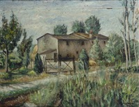 mattino. case di campagna by alfredo catarsini